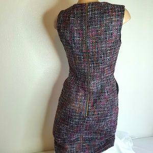 Milly Dresses - Milly multi color tweed career pocketed dress 4